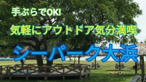 気軽にアウトドア気分満喫できるシーパーク大浜!!