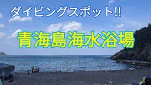 ダイビングスポット!青海島海水浴場